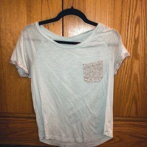 PINK pocket crewneck T-shirt
